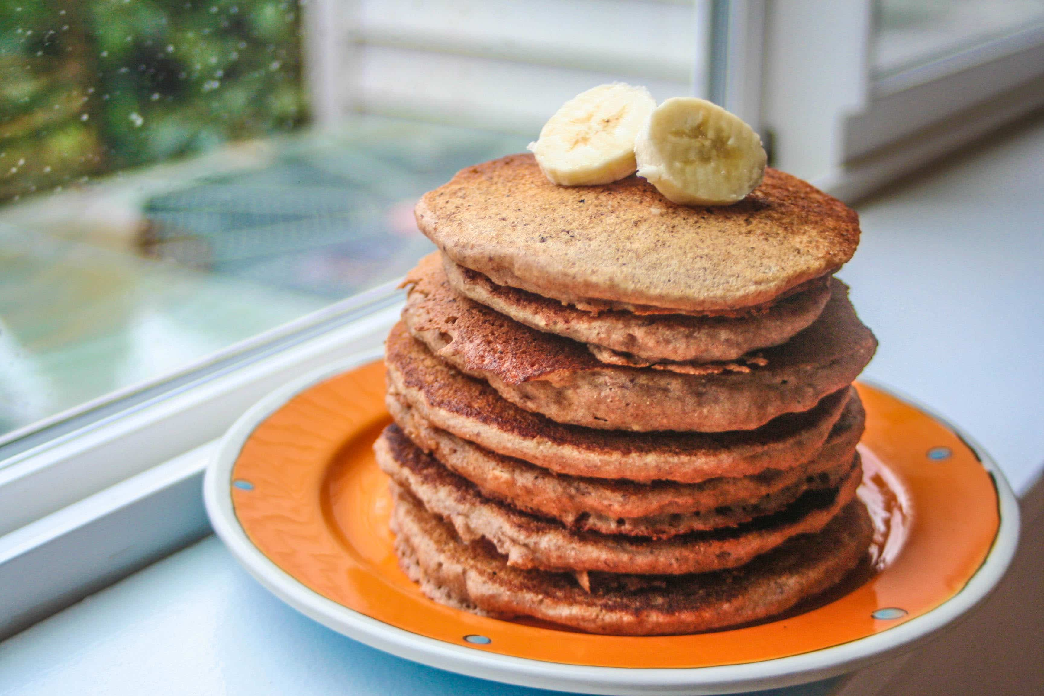 Freezer Whole Grain Pancakes - www.plantstrongfamily.com