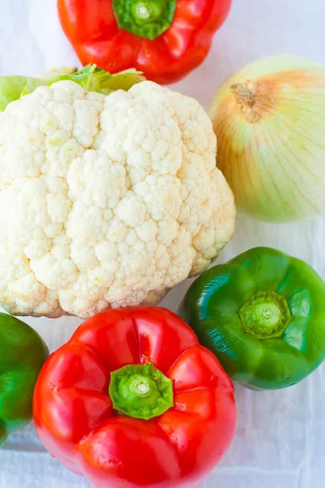Easy Sheet Pan Vegan Cauliflower Fajitas, ingredients